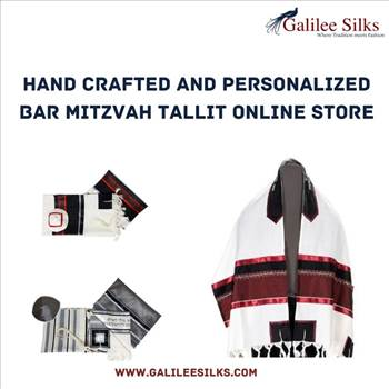 Hand Crafted and Personalized Bar Mitzvah Tallit Online Store by amramrafi