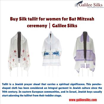 Buy silk tallit for women for Bat Mitzvah ceremony | Galilee Silks by amramrafi