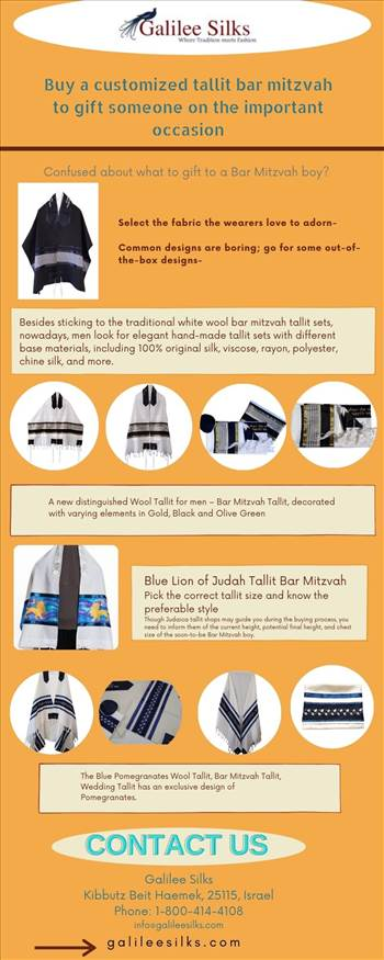 Buy a customized tallit bar mitzvah to gift someone on the important occasion by amramrafi