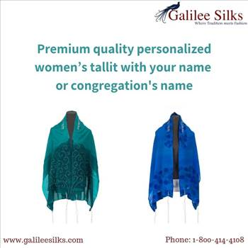 Premium quality personalized women's tallit with your name or congregation\u0027s name - It cannot be denied that the women's tallit is one of the most important Jewish religious symbols that are used during prayers.  For more details, visit this link: https://bit.ly/2LIsJJ5\r\n
