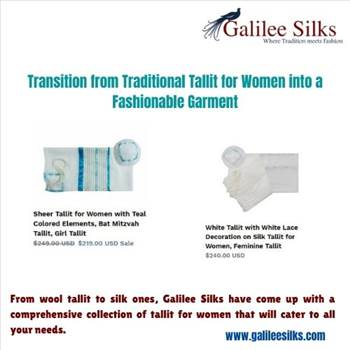 Transition from Traditional Tallit for Women into a Fashionable Garment by amramrafi