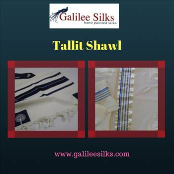 tallit shawl .gif - In the life of a Jew, one of the most significant things is a Tallit shawl which is also referred to as the Jewish Prayer Shawls. For more details, visit our website: https://www.galileesilks.com/category/catalog/hand-painted-silk-tallit/prayer-shawl/