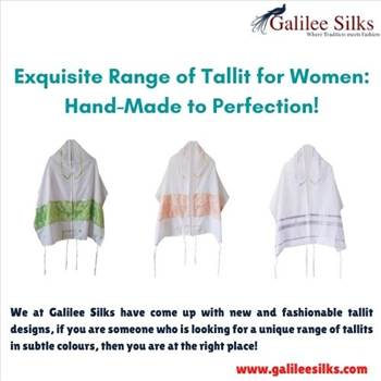 Exquisite Range of Tallit for Women: Hand-Made to Perfection! by amramrafi