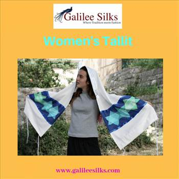 Women\u0027s Tallit.gif - Long gone are the days when women were not allowed to wear Tallits. But with a fresh new progressive approach, we at galileesilks have also come up with a fresh new collection of women's tallit. For more details, visit: https://bit.ly/2Pl4eRf