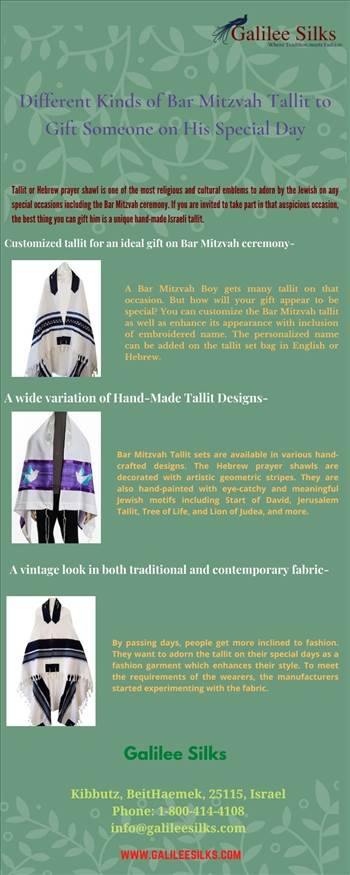 Different Kinds of Bar Mitzvah Tallit to Gift Someone on His Special Day by amramrafi
