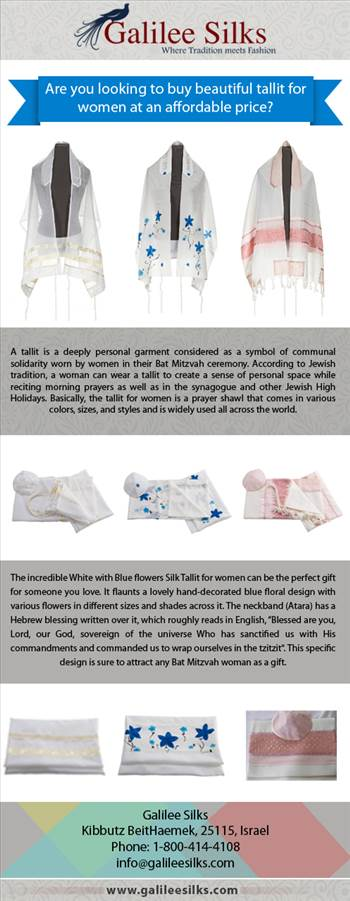 Are you looking to buy beautiful tallit for women at an affordable price? by amramrafi