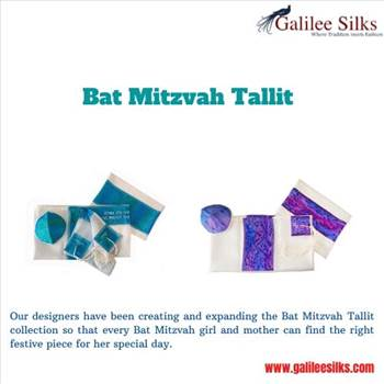 Bat mitzvah Tallit - Are you looking for the best quality Bat mitzvah Tallit? Is your girl ready for the first important ceremony of her life?  For more derails, visit: https://www.galileesilks.com/collections/bat-mitzvah-tallit