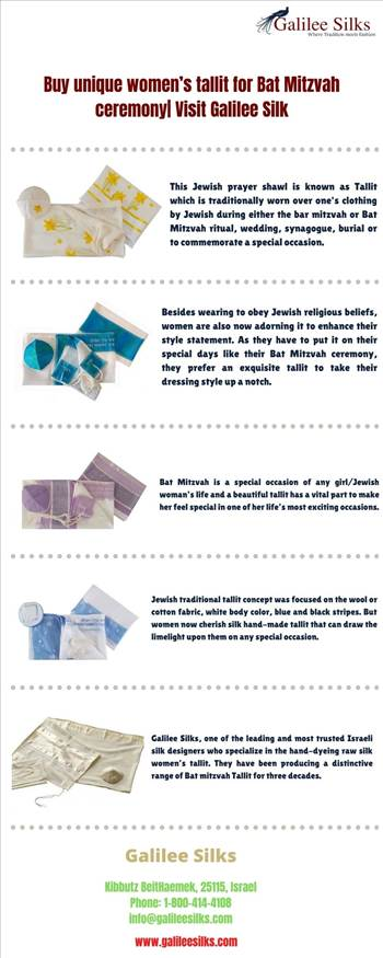 Buy unique women's tallit for Bat Mitzvah ceremony| Visit Galilee Silk by amramrafi