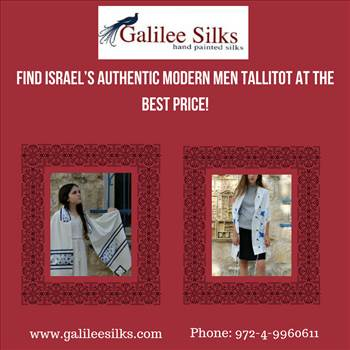 Find Israel's Authentic Modern Men Tallitot at the Best Price!.jpg - Jewish tallit or the Jewish prayer shawl, bestows a spiritual sense while performing prayers. For more details, visit this link: http://galileesilkstalit.blogspot.in/2018/05/find-israels-authentic-modern-men.html