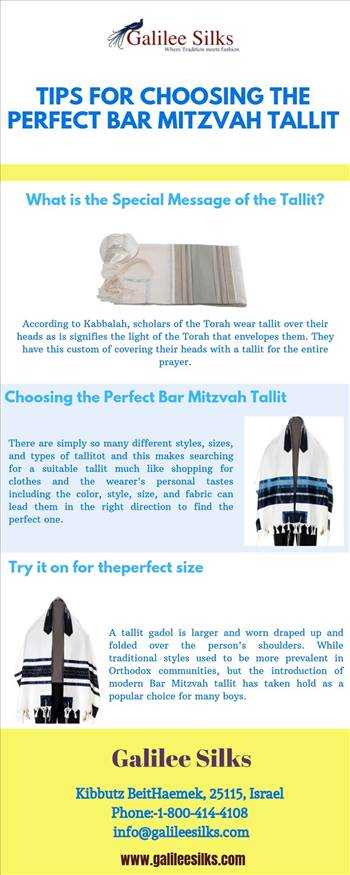 Tips for Choosing the Perfect Bar Mitzvah Tallit   - At Bar Mitzvahs, many families choose to gift their child with a tallit, which they can wear for the first time as they lead a congregation in prayer and learning. For more details, visit this link: https://bit.ly/2m8q4xY\r\n