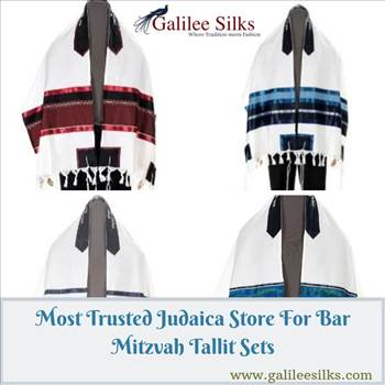 Most Trusted Judaica Store For Bar Mitzvah Tallit Sets by amramrafi