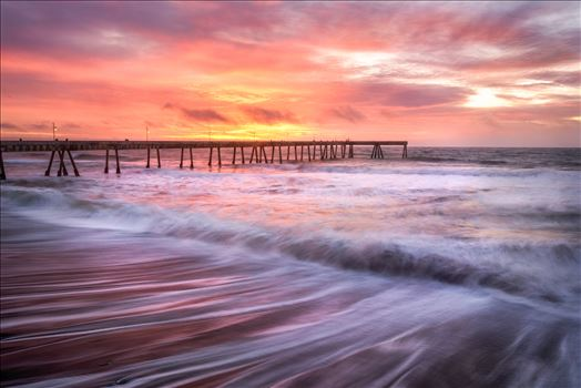 Sunset at the Pier by Dawn Jefferson