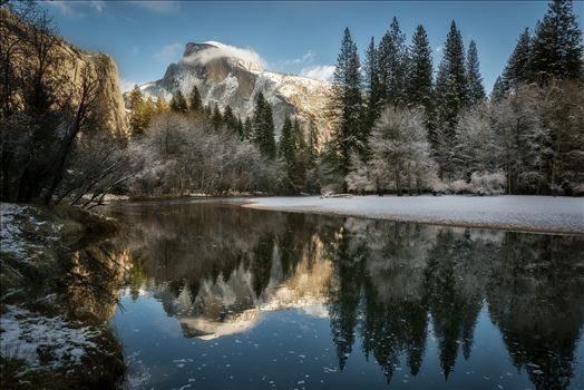 Reflecting on Half Dome in Winter by Dawn Jefferson