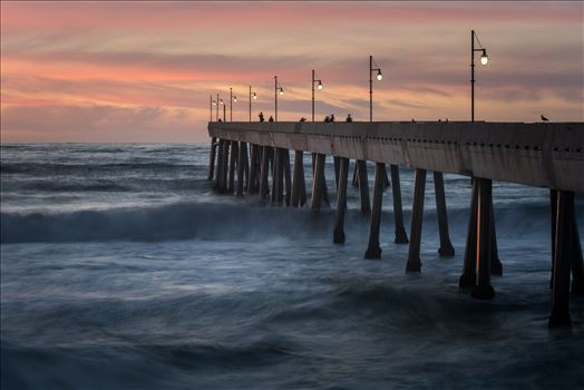 Pacifica Pier at Twilight by Dawn Jefferson