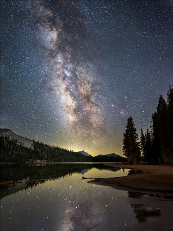 Milky Way over an Alpine Lake by Dawn Jefferson