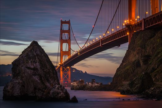 Twilight at the Golden Gate Bridge by Dawn Jefferson