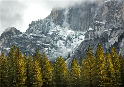 Fall Snow Dusting in Yosemite by Dawn Jefferson