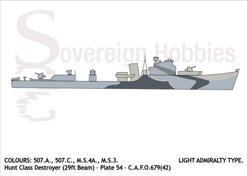 Illustrations of Camoflage Designs - Light Admiralty Type Camo Hunt Class 29ft Destroyer.png by jamieduff1981