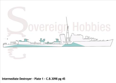 Illustrations of Camoflage Designs - Western Approaches Type_Intermediate Destroyers.png by jamieduff1981