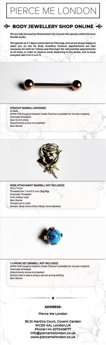 Buy body jewellery shop online at Pierce Me London by Piercemelondon