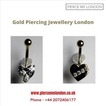 Gold piercing jewellery London by Piercemelondon