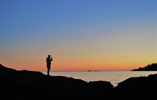 Sunset silhouette by Alana