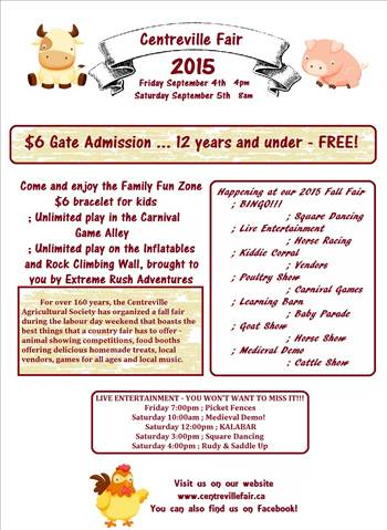 2015 Centreville Fair Poster by ParksyMama3