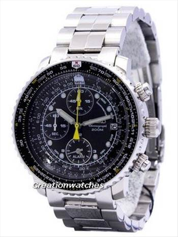 Seiko Pilot\u0027s Flight Alarm Chronograph SNA411 SNA411P1 SNA411P Men\u0027s Watch.jpg -