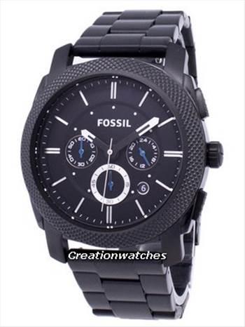 Fossil Machine Chronograph Black IP Stainless Steel FS4552 Men\u0027s Watch.jpg -
