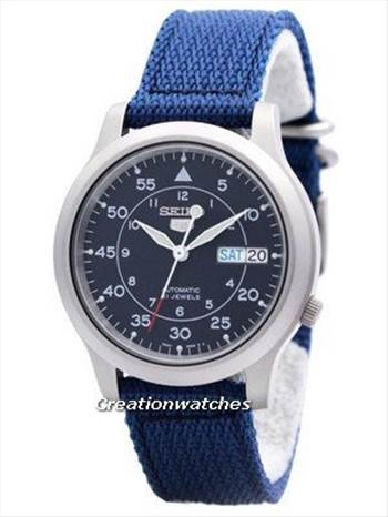 Seiko 5 Military Automatic Nylon Strap SNK807K2 Men\u0027s Watch.jpg -