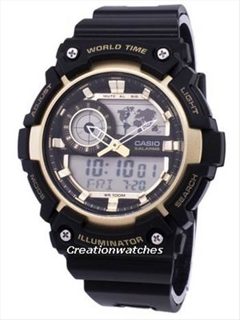 Casio Illuminator World Time Alarm AEQ-200W-9AV AEQ200W-9AV Men\u0027s Watch.jpg -