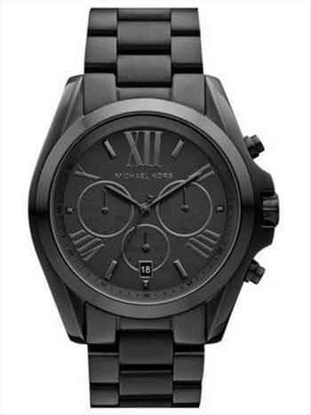 Michael Kors Bradshaw Chronograph Black Ion-plated MK5550 Unisex Watch.jpg -