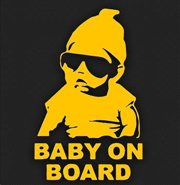 baby on board yellow.jpg by Michael