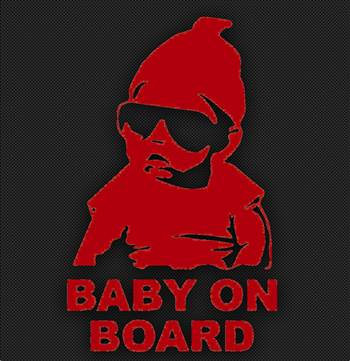 baby on board red.jpg by Michael