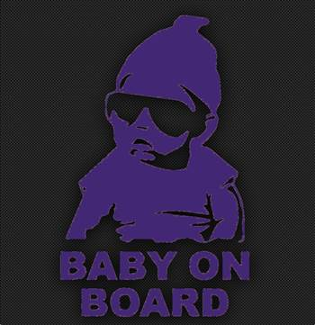 baby on board purple.jpg by Michael