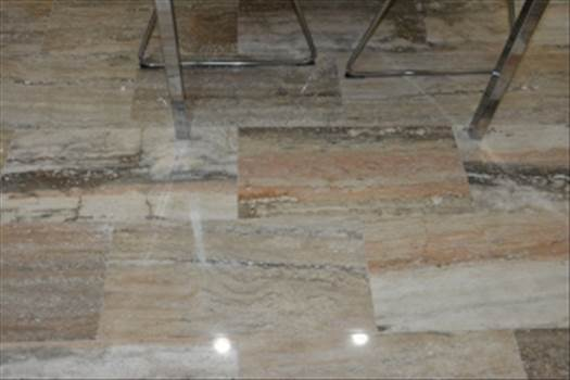 Envy Your Neighbours Using Polished Vein Cut Savannah Sunset Travertine Flooring And Tiles From Stone-Mart by stonemart