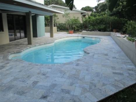 Silver Tumbled Paver Travertine Paver From Stone-Mart by stonemart