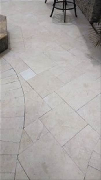 Add A Startling Beauty To Your Pool Using Crema Pearl French Pattern Marble Pavers From Stone-Mart by stonemart