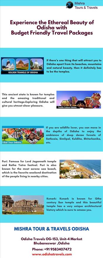 Experience the Ethereal Beauty of Odisha with Budget Friendly Travel Packages by Odishatravels