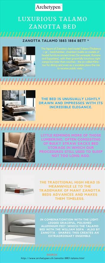 Luxurious Talamo Zanotta Bed by archetypen