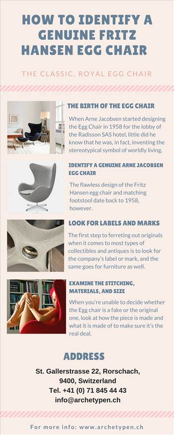 HOW TO IDENTIFY A GENUINE FRITZ HANSEN EGG CHAIR.jpg - One of the most recognizable and iconic pieces of furniture in Danish design history, Arne Jacobsen\u0027s classic Egg Chair has earned a place in the heart of many. Learn how to tell it's not a fake.  \r\nhttps://goo.gl/SaN1M5
