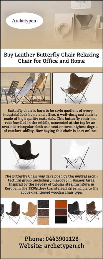 Buy Leather Butterfly Chair Relaxing Chair for Office and Home.jpg by archetypen