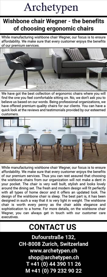 Wishbone chair Wegner – the benefits of choosing ergonomic chairs.jpg by archetypen