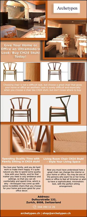 Choosing chair is not a difficult task, but choose a great chair that gives your home or office an aesthetic look is surely difficult and especially when you choose a chair like CH24 stuhl, but don't know where to buy.