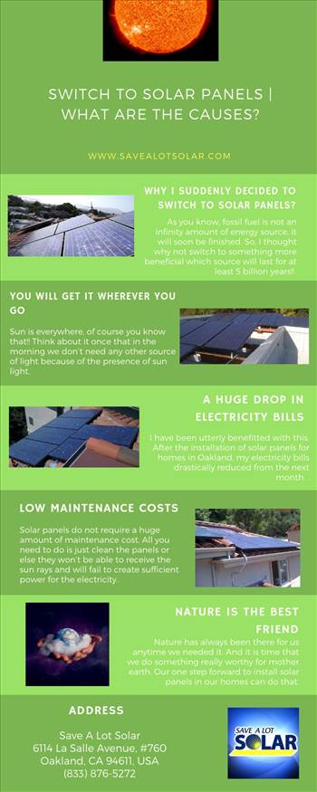 Switch to Solar Panels | what are the Causes? by savealotsolarus