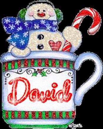 SnowmanCupDavid.gif by Donna Jackson