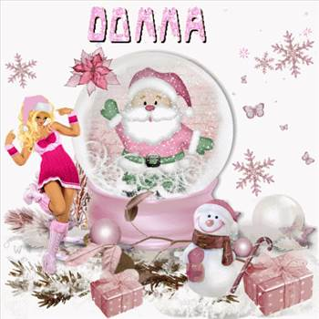 DonnaPinkSnowglobe.gif by Donna Jackson