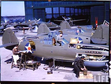 Curtiss P40 at Plant.jpg -