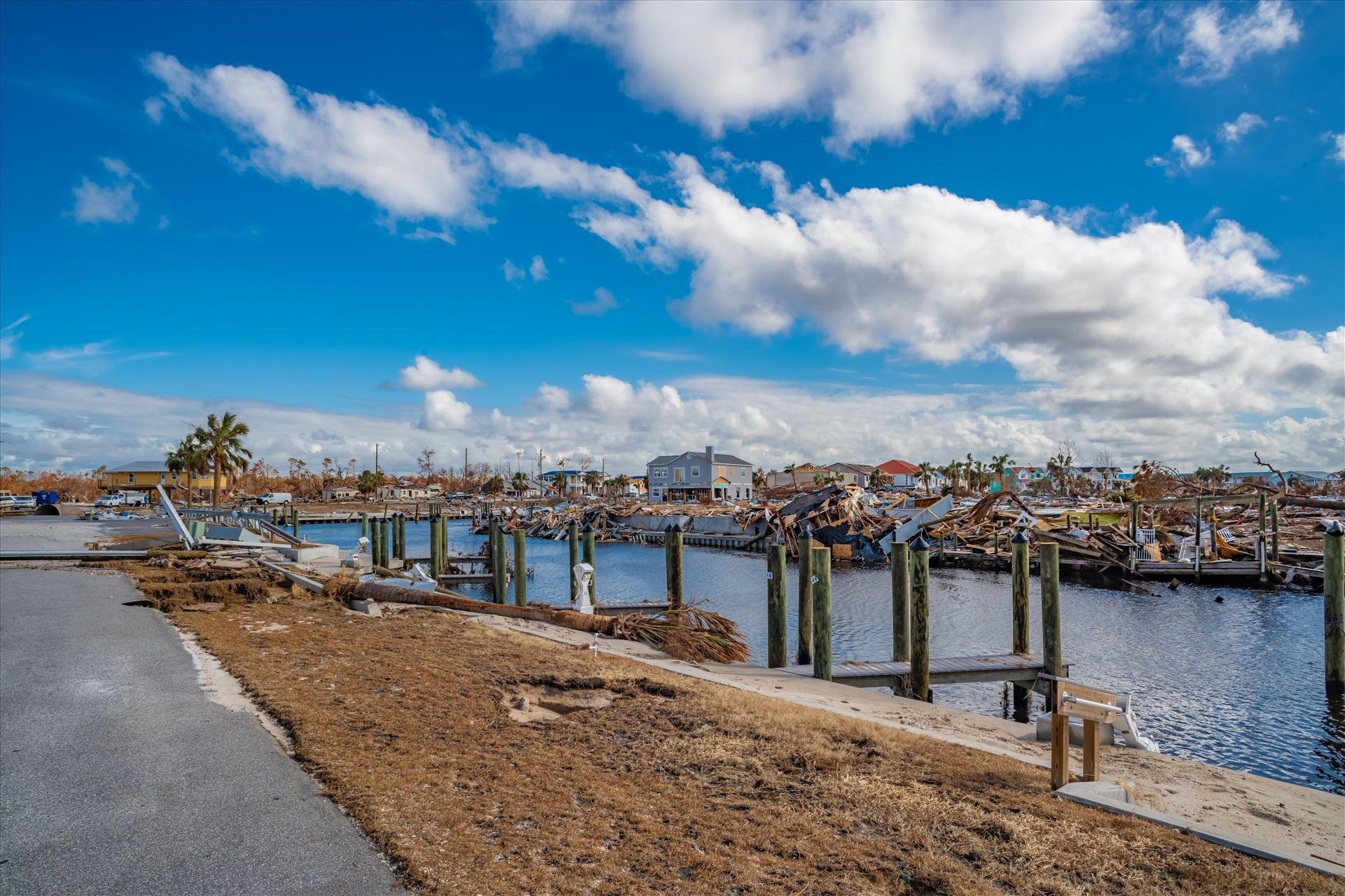 Hurricane Michael Mexico Beach, Florida, United States October 26, 2018.  16 days after Hurricane Michael. Canal Park by Terry Kelly Photography