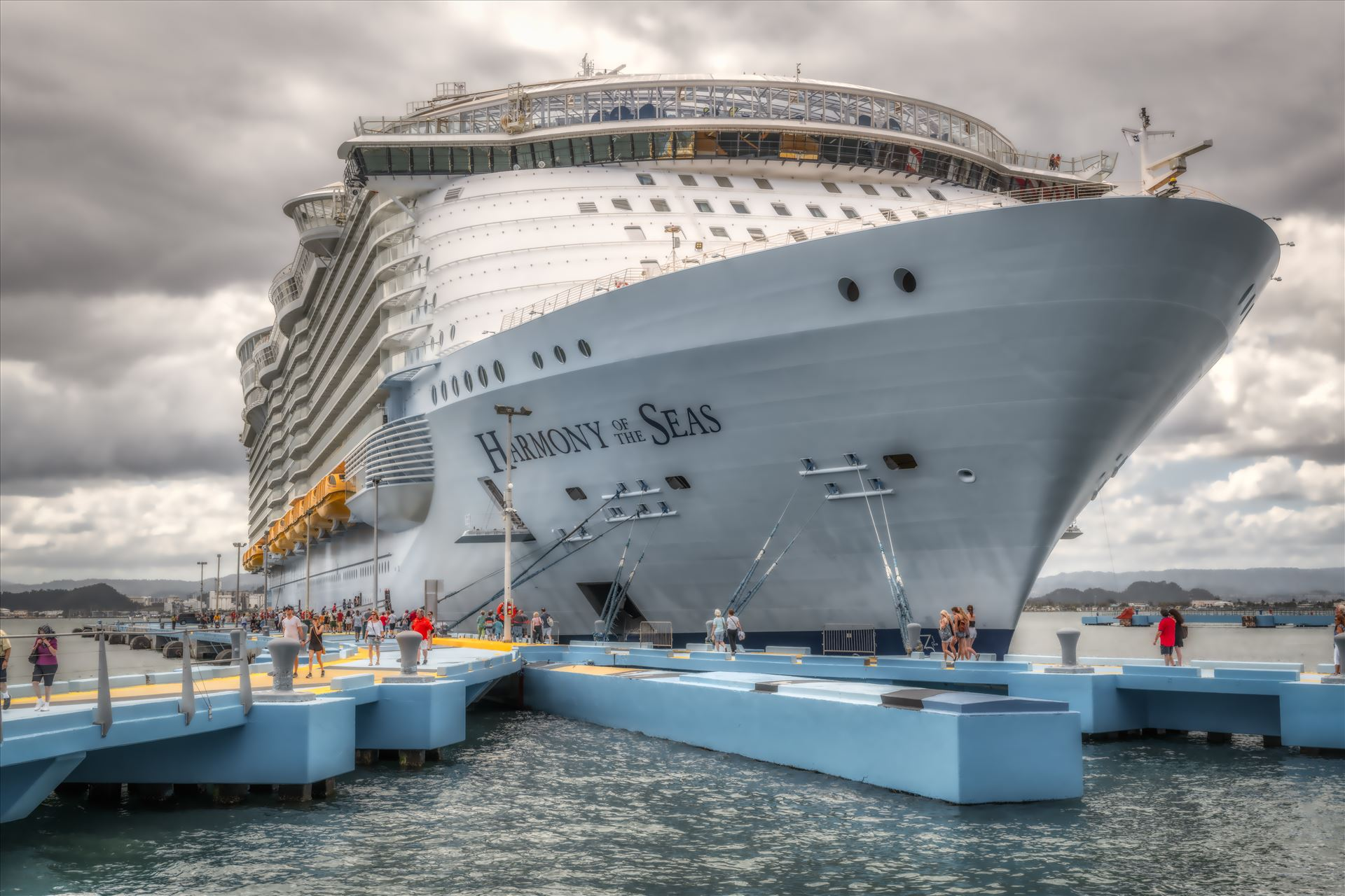 harmony of the seas harmony of the seas docked in puerto rico by Terry Kelly Photography